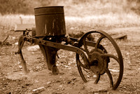 Old farmer's Plow - Sepia version