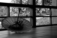Dropped & Deserted Japanese Parasol/Umbrella II in B&W