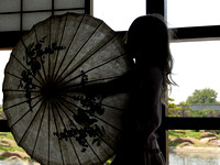 Little Girl Playing with Japanese Parasol II