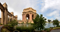 The Palace of Fine Arts, in the Marina District of San Francisco, CA